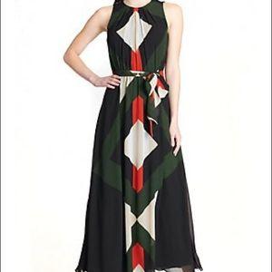 NWT Calvin Klein Sleeveless Tie Waist Maxi Dress